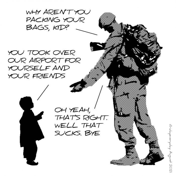 On the occupation of Kabul airport: meme